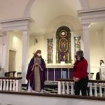 Mother Lisa Mitchell lauds Chris Psolka  for her 20 years' service at Christ Church.