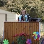 Mother Lisa Presides at Outdoor Easter Vigil Service 2021