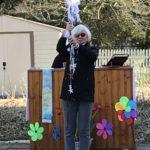 Deacon Vicki at Outdoor Easter Vigil Services 2021